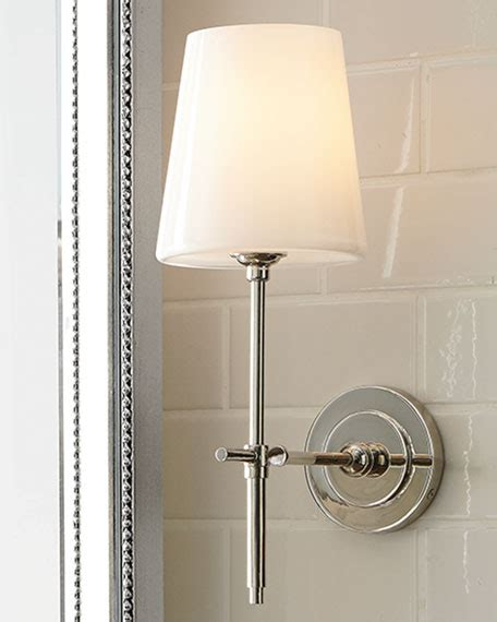 bathroom sconces with shades visual comfort bryant sconce with glass shade