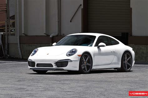 porsche white 911 white 2012 porsche 911 on vossen wheels