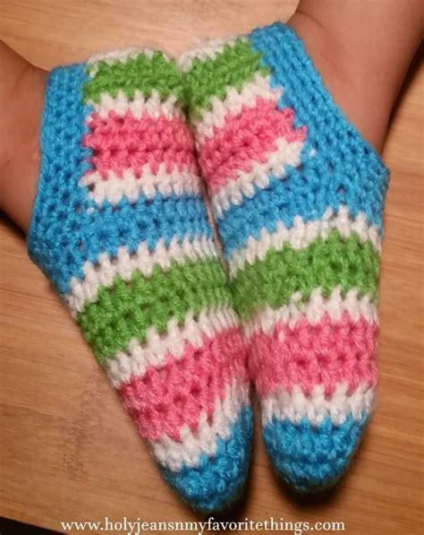 crochet pattern toddler socks 10 free patterns for crochet slippers