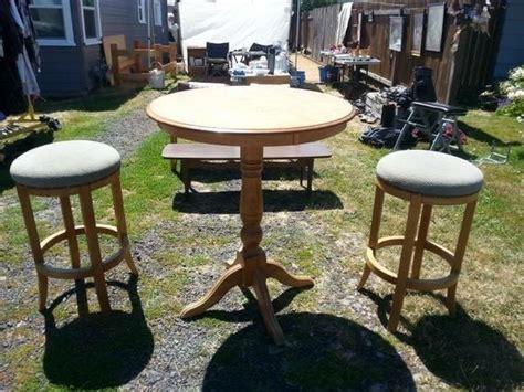 yard sale pub table and stools makeover hometalk