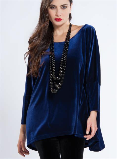 Blouse Square blouse square velvet 89 pes 11 elastan
