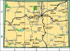 map of colorado cities colorado vacation