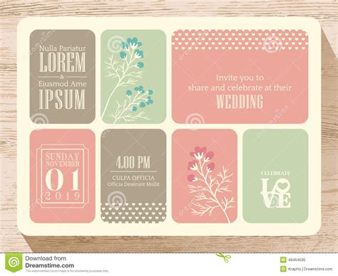 pastel color card templates pastel wedding invitation card background stock