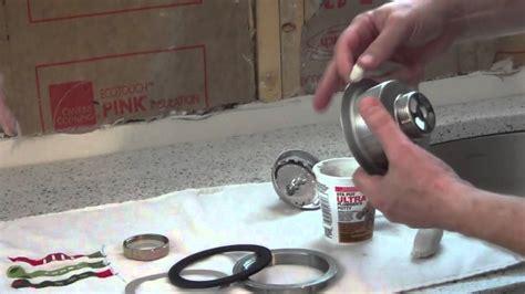install  kitchen sink basket strainer youtube