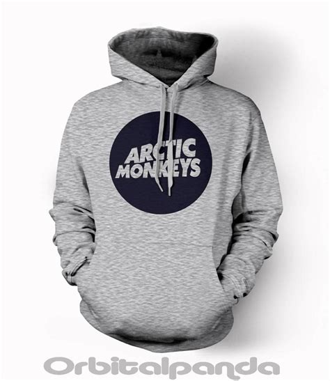 Hoodie Arctic Monkeys 1 grey hoodie with arctic monkeys circle logo alex turner