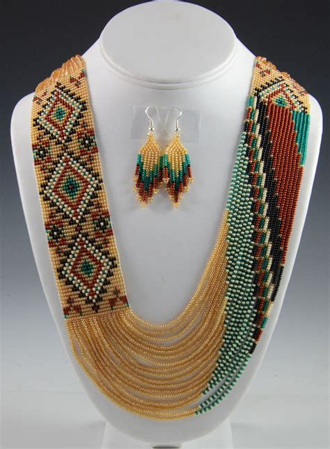 make american indian jewelry navajo beaded necklace navajo necklace rena charles