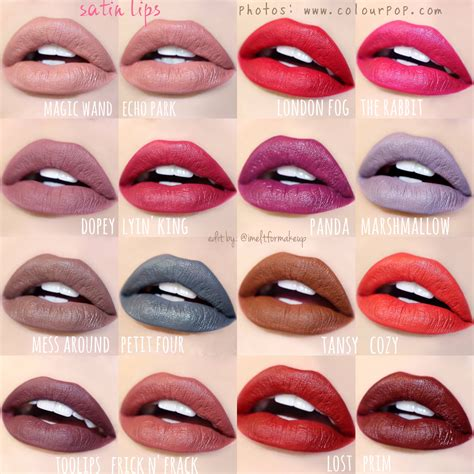 color pop new colourpop satin are live colourpop i m e l
