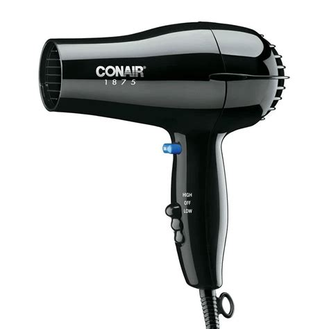 Difference In Hair Dryer And Dryer conair 247bw compact size black hair dryer 1875w