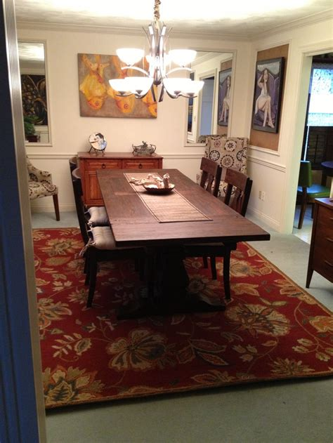 New Rug Under My Dining Room Table For The Home Pinterest My Dining Room Table