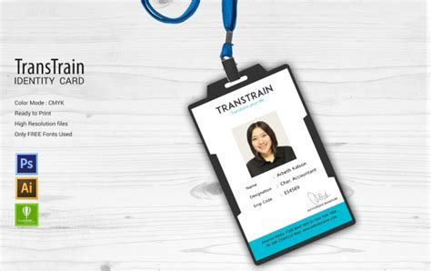 company id card template cdr 15 institute templates psd eps ai cdr