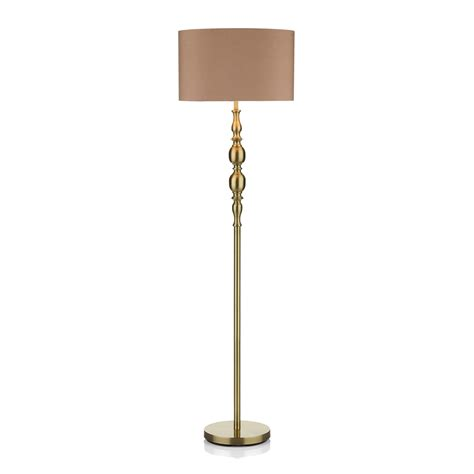three light floor l dar mad4975 madrid 1 light antique brass floor l