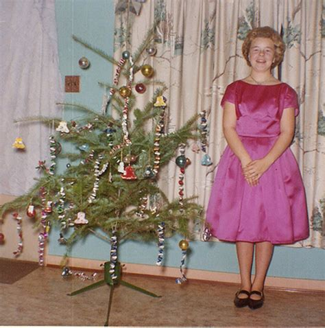 most popular live christmas trees of 1960s 19 humorous and playful vintage snapshots of standing next to their trees