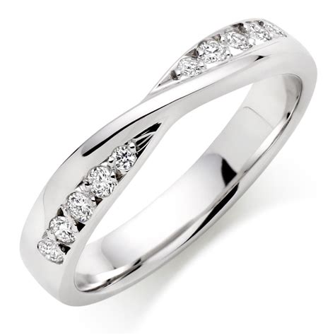Wedding Ring Design White Gold by 9ct White Gold Wedding Ring 0007277