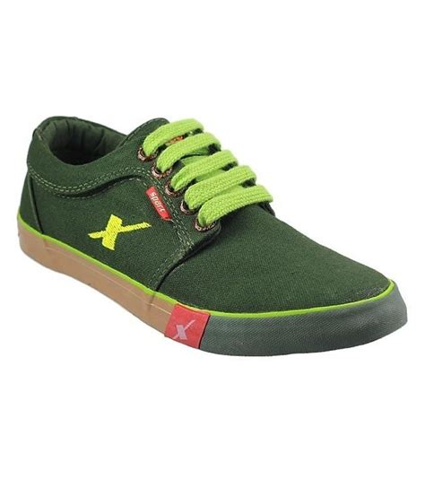 sparx olive green canvas shoes price in india buy sparx