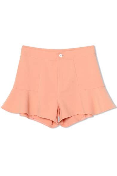 Plain Chiffon Culottes plain chiffon button fly boot cut shorts