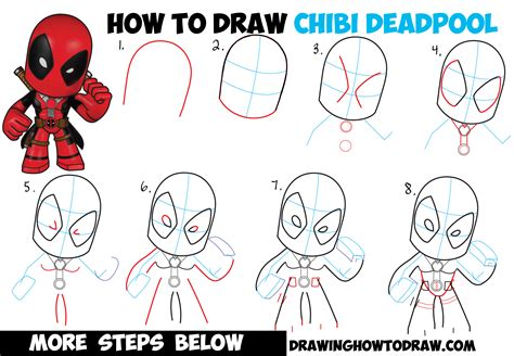how to draw a step by step easy how to draw chibi deadpool easy step by step drawing tutorial how to draw step by