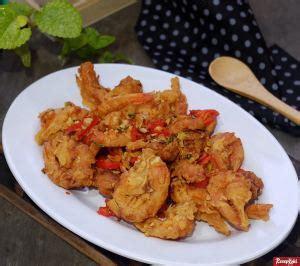 udang cabe garam praktis lezat istimewa resep resepkoki