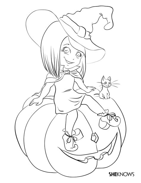 halloween witch coloring pages az coloring pages