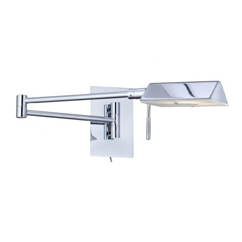 7665cc chrome swing arm wall light