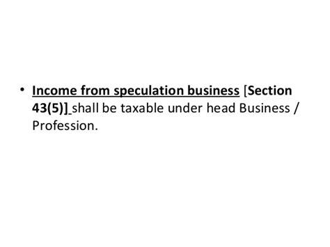 section 43 5 of income tax act tax presentation business income