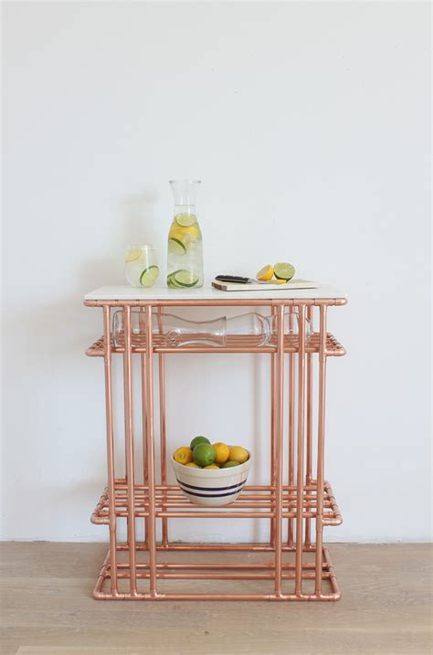 17 gorgeous diy copper projects that will add elegance to any gorgeous diy copper pipe side table with marble top