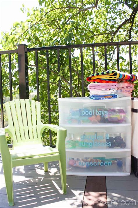 a simple amp affordable way to organize pool toys ask anna