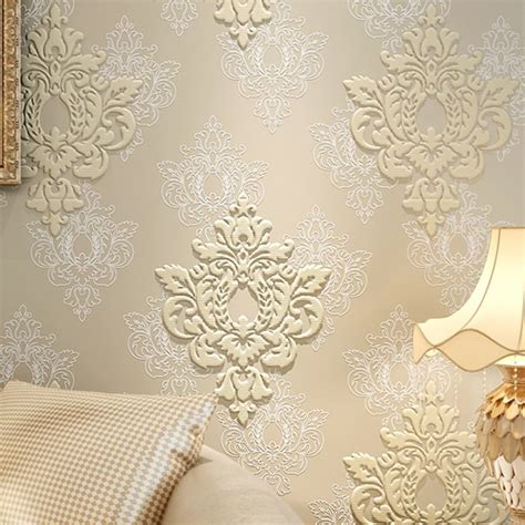 wallpaper gold embossed high quality luxury 3d damask wallpaper fabric embossed