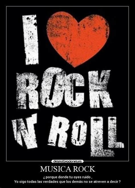 imagenes rock love musica rock desmotivaciones