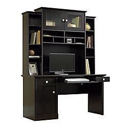 Sauder Conrad Computer Desk And Hutch Estate Black By Office Depot Computer Armoire