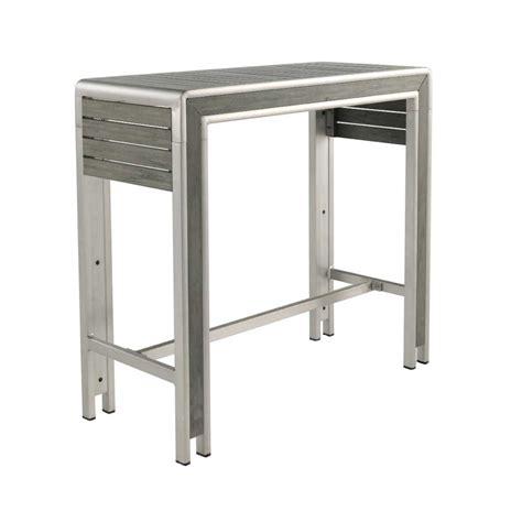 table haute bar pas cher table de bar en bois laqu avec