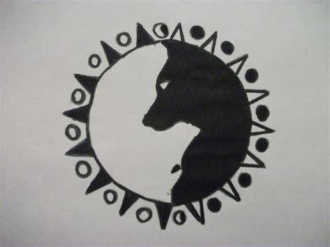 yin yang wolf tattoo wolf yin yang design