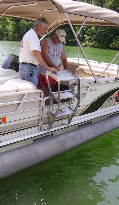 boat ladder tooner i pontoon ladder pontoon boat access marine ias