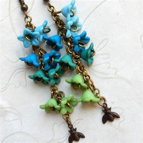 bluebell earrings bluebell jewelry blue bell earrings bee