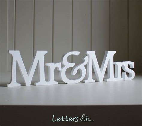 Letter Mister personalised mr mrs wooden name letters by letters etc