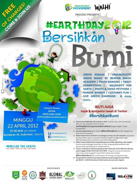 cara membuat poster hari ibu earth day 2012 bersihkanbumi oleh detha arya tifada