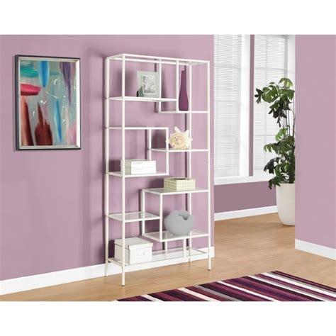 monarch metal bookcase in white ebay