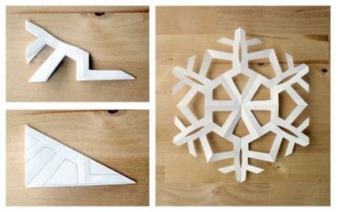 Simple Origami Snowflake - simple 6 sided snowflakes from filth wizardry how to make