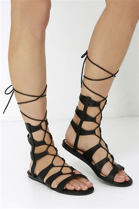 sandals lace up black vegan leather sandals gladiator sandals lace up