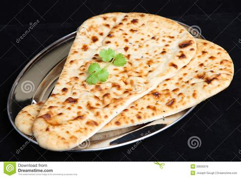 Starterkit Tray Nan indian food naan bread isolated stock image image 33630379