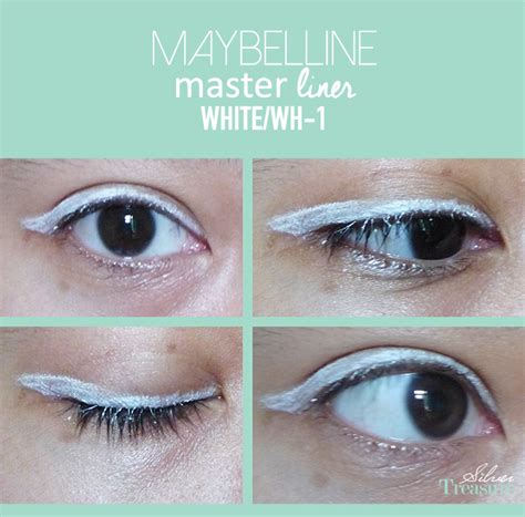 Eyeliner Basah maybelline master liner white wh 1 silver treasure on a budget