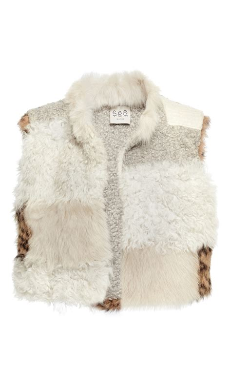 Patchwork Fur - patchwork fur vest by sea moda operandi