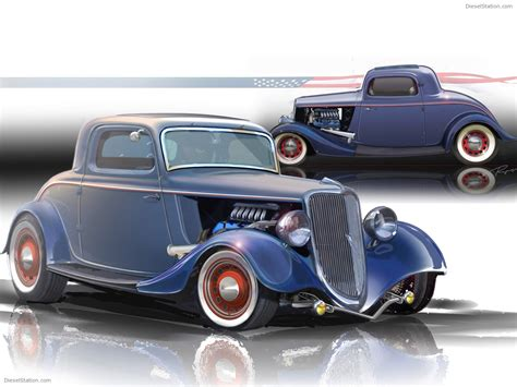 1934 ford 3 window coupe rod car wallpapers 02