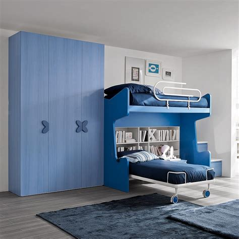 blue bedroom set kid s bedroom furniture set for boys with bunk bed storage