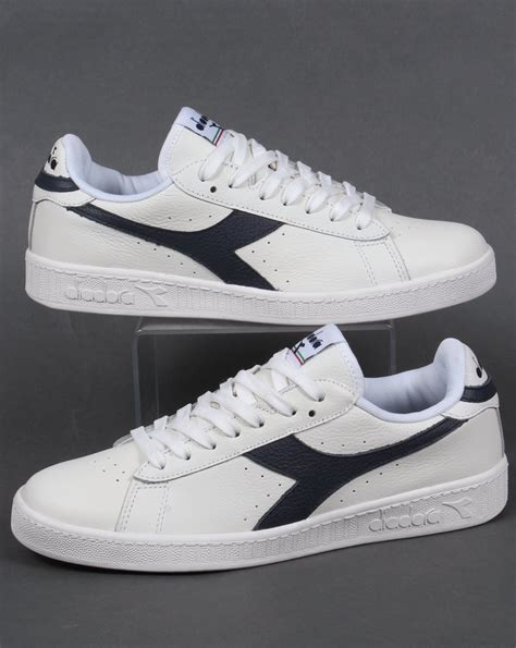 Google Pod by Diadora Game L Low Waxed Trainers White Navy Men S