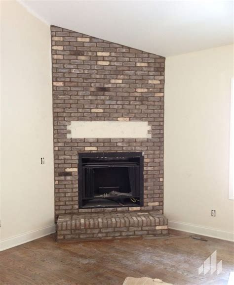 cape lookout thin brick fireplace house ideas