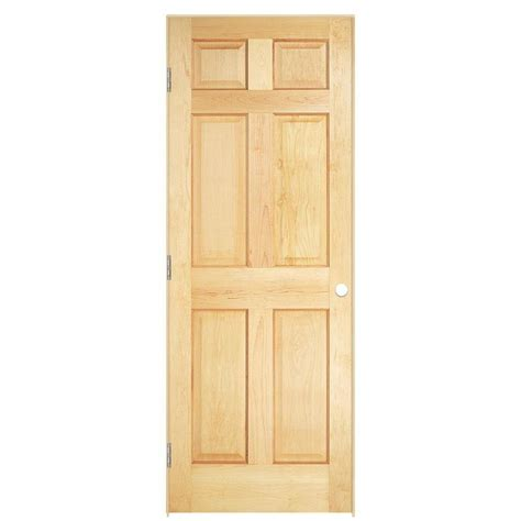 Pine Interior Doors Shop Masonite Prehung Solid 6 Panel Pine Interior Door Common 30 In X 80 In Actual 31 5