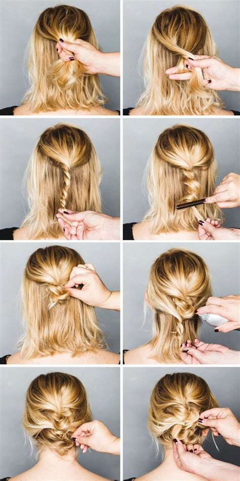 easy step by step updos for short long hairstyles