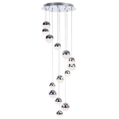 spiral pendant ceiling light corona 14 light spiral cluster ceiling pendant chrome