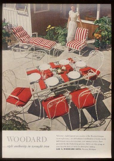 woodard valentine  ad vintage patio furniture