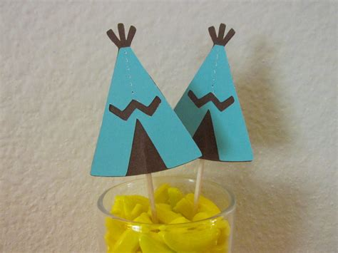 Make A Teepee Out Of Paper - 12 teepees southwest cupcake toppers teepee by scrapstarz